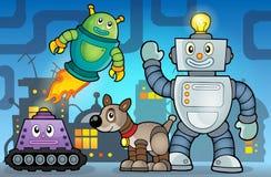 Imagem 6 do tema do robô Fotos de Stock Royalty Free