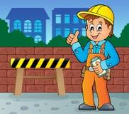 Imagem 4 do tema do trabalhador da construção Imagem de Stock Royalty Free