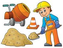 Imagem 5 do tema do trabalhador da construção Fotografia de Stock