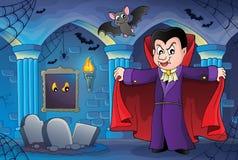 Imagem 7 do tema do vampiro imagens de stock