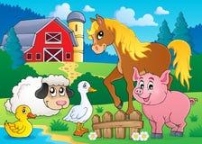 Imagem 5 do tema dos animais de exploração agrícola ilustração stock
