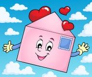Imagem 2 do tema do envelope do Valentim Imagem de Stock Royalty Free