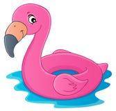 Imagem 1 do tema do flutuador do flamingo ilustração stock