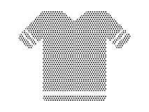Imagem do teste padrão pontilhado de uma camisa de esporte ilustração do vetor