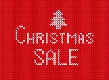 Imagem do texto do Natal no fundo feito malha ilustração royalty free