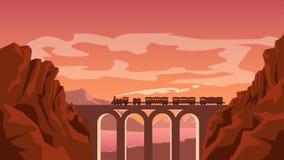 Imagem do trem ilustração do vetor