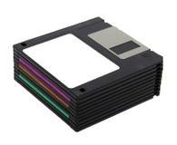 Pilha de discos flexíveis de 3,5 polegadas Foto de Stock Royalty Free