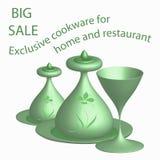 Imagem do utensílios bonitos para cafés, barras, restaurantes e k Fotografia de Stock Royalty Free