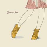 A imagem do vetor Boots Ilustração Stock