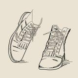 A imagem do vetor Boots Ilustração Royalty Free