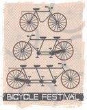 Imagem do vetor com bicicletas do vintage Imagem de Stock