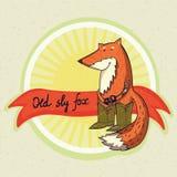 Imagem do vetor com a raposa velha dos desenhos animados Fotos de Stock