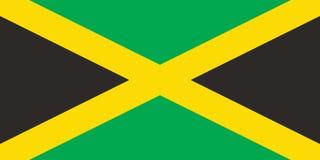 Imagem do vetor da bandeira de Jamaica, ilustração ilustração royalty free