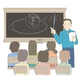 Imagem do vetor da cena da lição da escola ilustração royalty free