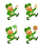 Coleção dos Leprechauns Imagem de Stock