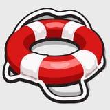 Imagem do vetor da corda de salvamento Simbólico para o logotipo Imagem de Stock