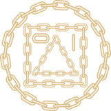 Imagem do vetor da corrente dourada ilustração do vetor