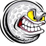 Imagem do vetor da face da esfera de golfe Fotos de Stock Royalty Free
