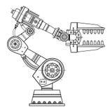 Imagem do vetor da mão do robô industrial no fundo isolado Fotografia de Stock Royalty Free