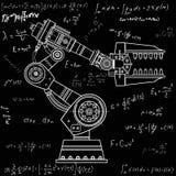 Imagem do vetor da mão do robô industrial no fundo isolado Fotos de Stock Royalty Free