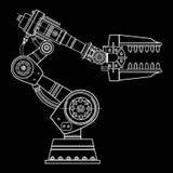 Imagem do vetor da mão do robô industrial no fundo isolado Imagem de Stock Royalty Free