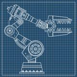 Imagem do vetor da mão do robô industrial no fundo isolado Fotografia de Stock