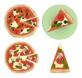 Imagem do vetor da pizza Fotografia de Stock