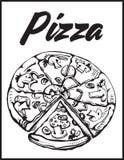 Imagem do vetor da pizza desbastada Parte de pizza Foto de Stock Royalty Free
