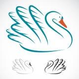 Imagem do vetor das cisnes Imagens de Stock