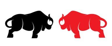 Imagem do vetor de um bisonte Imagem de Stock