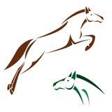 Imagem do vetor de um cavalo Fotos de Stock Royalty Free
