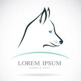 Imagem do vetor de um cão de puxar trenós Siberian do cão Fotografia de Stock Royalty Free