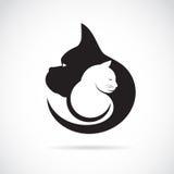 Imagem do vetor de um cão e gato Fotografia de Stock Royalty Free