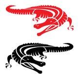 Imagem do vetor de um crocodilo Imagens de Stock