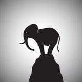 Imagem do vetor de um elefante ilustração stock
