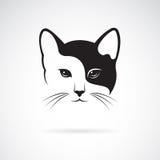 Imagem do vetor de um projeto da cara do gato ilustração royalty free