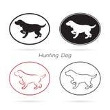 Imagem do vetor de uma caça do cão Imagem de Stock