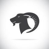 Imagem do vetor de uma cabeça das cabras ilustração do vetor