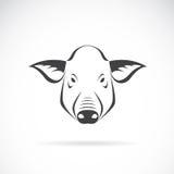 Imagem do vetor de uma cabeça do porco ilustração royalty free