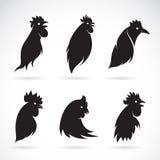 Imagem do vetor de uma cabeça da galinha Imagem de Stock