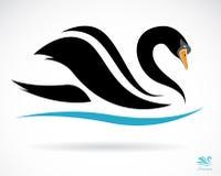 Imagem do vetor de uma cisne Foto de Stock