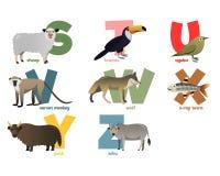 Imagem do vetor do alfabeto com animais Imagem de Stock