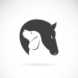 Imagem do vetor do cavalo e do cão Imagem de Stock