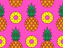 Imagem do vetor dos abacaxis e das suas fatias ilustração do vetor