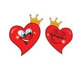 Imagem do vetor dos corações do amor Foto de Stock