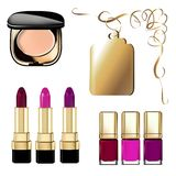 Imagem do vetor dos cosméticos das mulheres elegantes, luxuosas ilustração royalty free