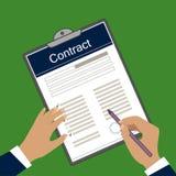 Imagem do vetor do formulário do contrato ilustração royalty free