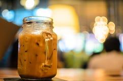 Imagem do vidro do café com borrão Imagem de Stock