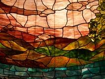 Imagem do vidro manchado da beleza foto de stock