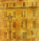 Imagem do vintage da casa em Roma Imagens de Stock Royalty Free
